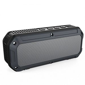AUKEY Altavoz Bluetooth al aire libre, Altavoz Bluetooth 4.0 impermeable inalámbrica estéreo, dual ligero 3W Conductor, 16 horas de reproducción, Mic incorporado para iPhone, Android y Windows Smartphone y Tablets