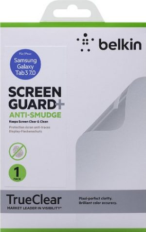Belkin Screen Guard Anti-Smudge - Protector de pantalla para tablet Samsung Galaxy Tab 3 7.0, transparente