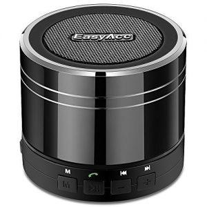 EasyAcc Altavoz Bluetooth 4.0 mini portátil recargable con micrófono para Tablets Portátiles - Titanio Negro