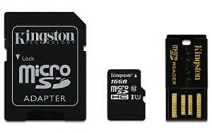 Kingston Multi Kit - Kit con tarjeta microSD y adaptadores