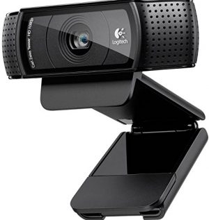 Logitech C920 HD Pro - Webcam Full HD (1080pm, sensor de 15 Mp), negro