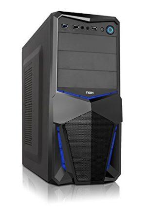 NOX NXPAX - Caja de ordenador torre, color negro