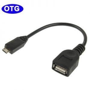 OTG - Cable adaptador USB hembra y Micro USB macho para Samsung Galaxy S2 S3