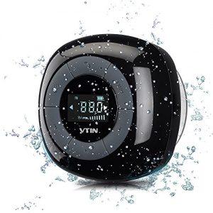 Relaxer Altavoz Bluetooth 4.0 de VicTsing impermeable con sonido estéreo y manos libres para el iPhone 6/6s/6 plus, 5 / 5s Samsung Galaxy y todos los moviles con Bluetooth-Negro