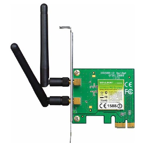 TP-LINK TL-WN881ND - Adaptador PCI Express (300 Mbps, 2.4 GHz, 802.11n/g/b, 2 antenas desmontables)