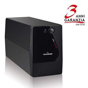 Tecnoware ERA PLUS 750 sistema de alimentación ininterrumpida (UPS) 750 VA 2 salidas AC Línea interactiva - Fuente de alimentación continua (UPS) (750 VA, 525 W, 50/60 Hz, 5%, Tipo F, 2 salidas AC)