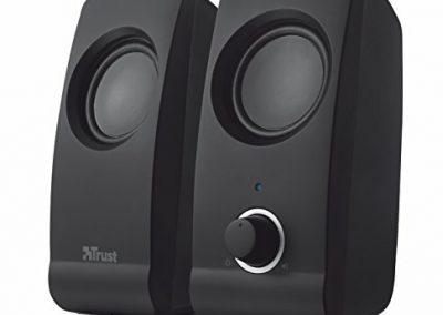 Trust Remo - Set de altavoces de ordenador de 16 W (2.0, 3.5 mm), negro