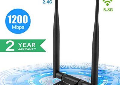 Antena USB WiFi Adaptador 1200Mbps